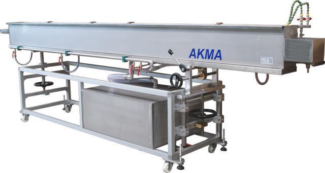 Kühlbecken mit Tauch- oder Sprühkühlung, mit integriertem oder separatem Kühlgerät, sowie mit oder ohne Umwälzpumpe.