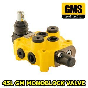 "1)Spool : 1,2,3,4,5,6  /Double-Single-Closed Center-Motor-Floating-Regenerative Spool 2) Liter : 45L Nominal-65L Max 3) Ports: 3/8"" Standard - 1/2"" - M18x1,5 Optional"