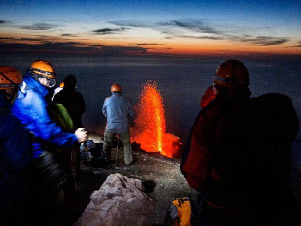 climbing stromboli, crater Stromboli, Aeolian hike lava, volcano, eruption, Sciara del Fuoco, climbing crater Stromboli, Stromboli volcano eruption, Sciara del Fuoco, Trekking and climbing volcano