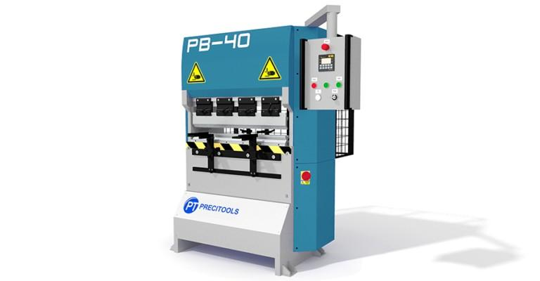 Compact and economic hydraulic press brakes with width of bending 800-2000 mm and 40 tons forces, manual and NC version and use of standard Promecam tools