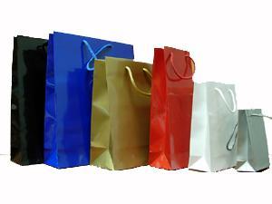 bolsas de papel con asa cordón, varios colores
