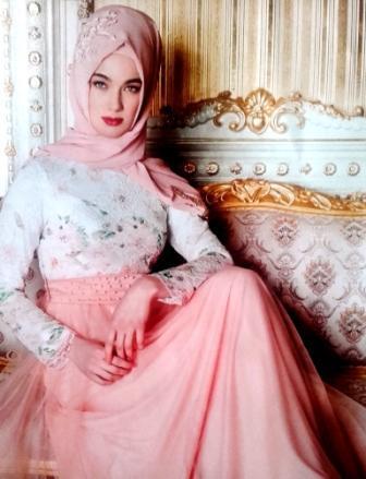 Musulman Hijab Robes De Soirée a Manches Longues en Dentelle Sirène.