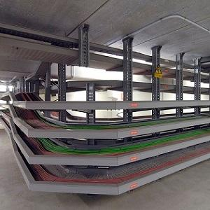 Unex insulating cable trays satisfy the highest requirements with regards to electrical, mechanical and fire safety and have been mounted foro ver 40 years in industrial premises and power stations.