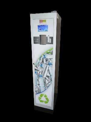 La Tower Touch compacte automatiquement canettes,bouteilles et gobelets, son faible encombrement lui permet de se faufiler dans tous les espaces, sa tablette tactile offre de nombreuses possibilités.