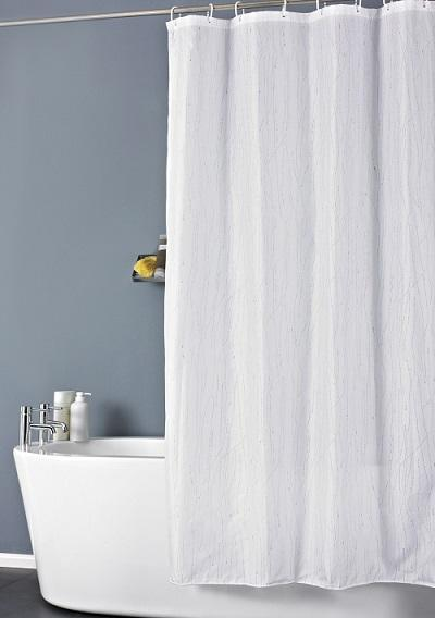 Cardif Glitter shower Curtain 180x180cm