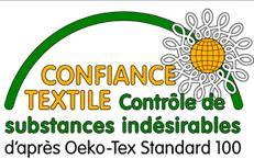 Le label Oeko-Tex garantit l'absence de substances nocives dans les articles textiles (ex/ colorants allergènes) pour des produits plus sûrs.