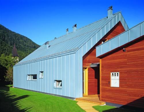 Фасад и крыша из титан-цинка RHEINZINK