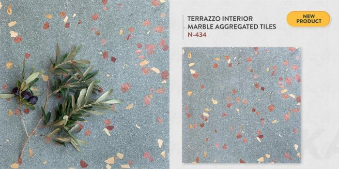 INTERIOR MARBLE AGGREGATED TERRAZZO TILES - N-434