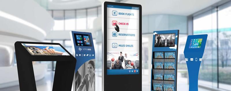 Digital Broker : borne tactile et borne interactive