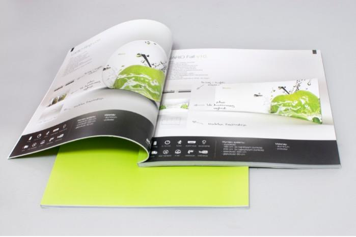 Square offset full colour brochure perfect binded