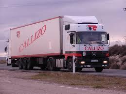 camión de CALLIZO para recogidas de palets en clientes
