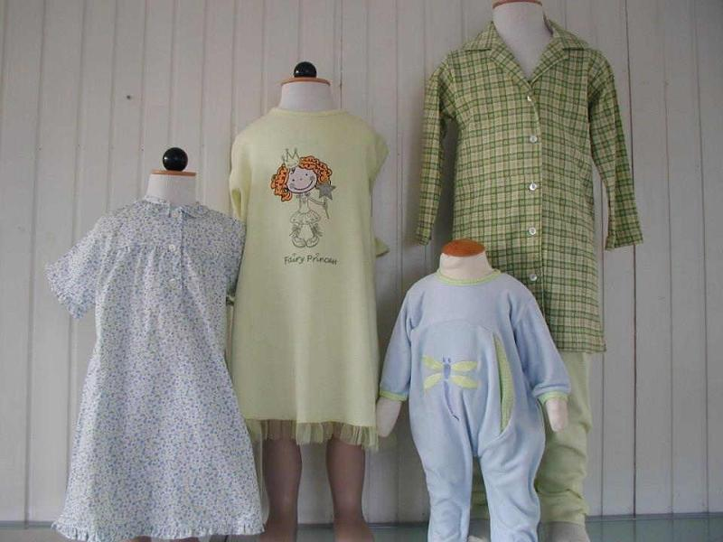 We manufacture clothing for babies, toddlers, kids, young adults, male and female.