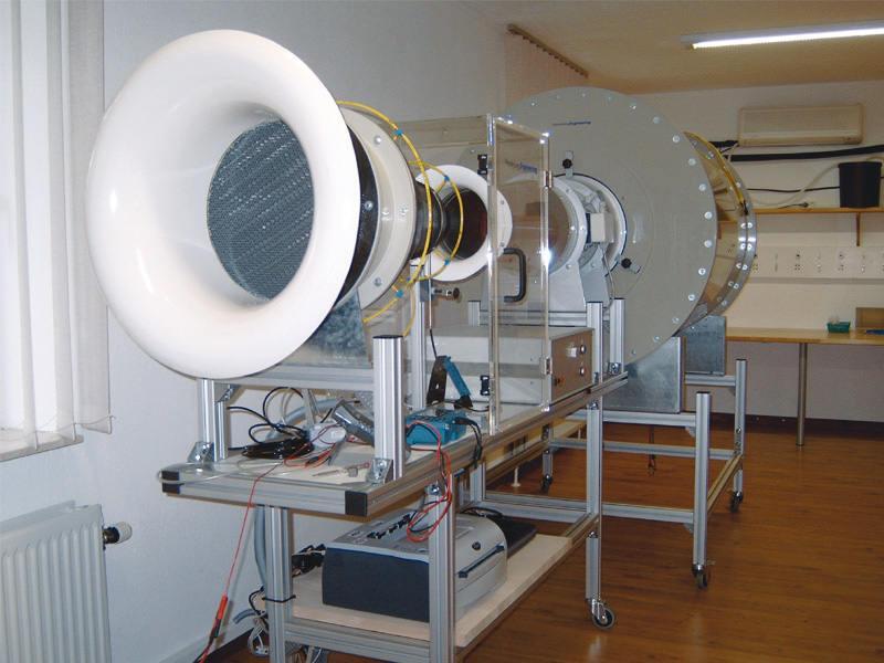 Windkanal f. Luftgeschwindigkeitskalibr.