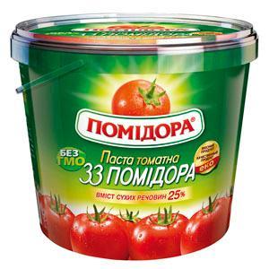 Tomato paste 1 kg, 25% Brix