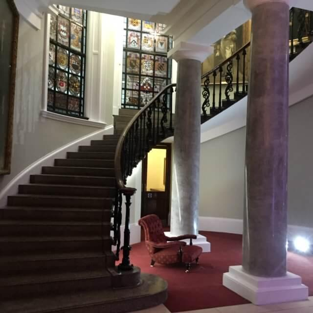 Marble plaster columns at London Law Society