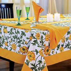 Hand Woven, Hand Spun, Cotton Table Cloth Set