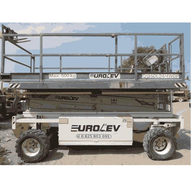 Type de matériel :Ciseau Diesel Réference machine : TS 44 RT Contructeur :  Holland lift Hauteur de travail : 15 mètres Horametre:3003 heures Motorisation: Hatz 2L40C