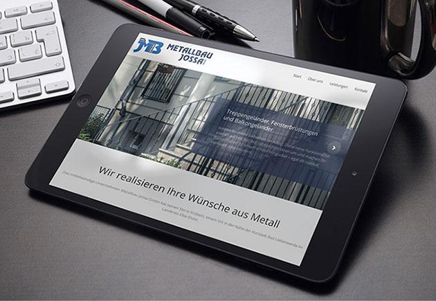 Referenz: CMS-Homepage | metallbau-jossa.de