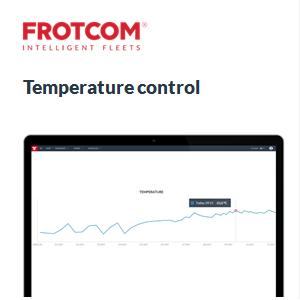 Need to monitor the temperature of your cargo? Frotcom has the solution.