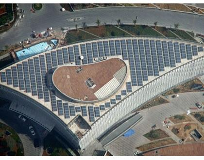SOLE has undertaken most of the ambitious solar energy projects in Greece and many other countries.  In 2009 SOLE conquers the skies by supplying the solar system to the highest building in the world.