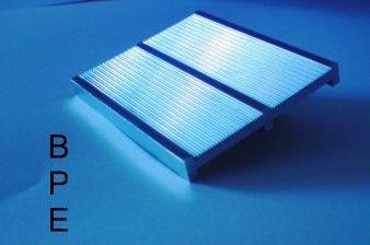 Das Bild zeigt ein Prägewerkzeug aus Metall, welches einen Mikrocode zum Produktschutz enthält