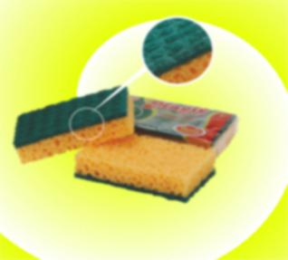 ANTIBACTERIAL KITCHEN SPONGE.THE SPECIAL EMPOSSED SURFACE WORKS LIKE BRUSHES FOR A QUICK AND POWERFUL CLEANING . THE SPECIAL FOAM STRUCTURE DOESNT HOLD IN FAT AND GREASE.