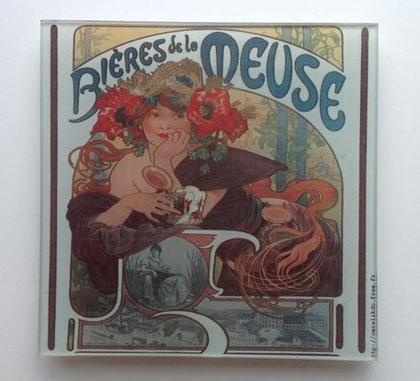 Bière de la Meuse - Dessous de plat en verre trempé