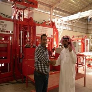 Installed Block Making Machine In Riyad - Saudi Arabia