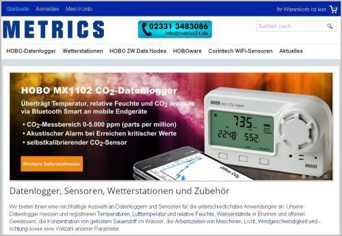 Kaufen Sie Datenlogger und Sensoren für eine Vielzahl von Mess- und Registrierungsanwendungen in unserem Online-Shop (http://www.metrics24.de). Kauf auf Rechnung nach Bonitätsprüfung.