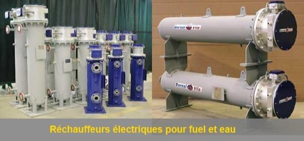 Réchauffeurs électriques pour fuel et eau