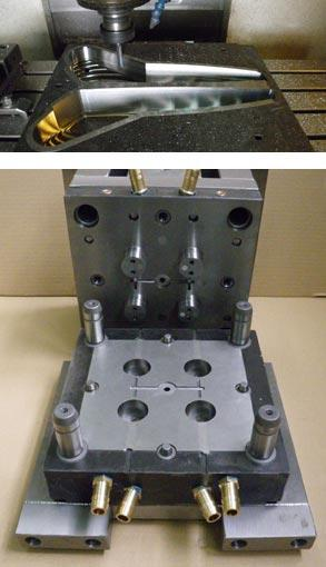 CNC milling, manufacturing of moulds.