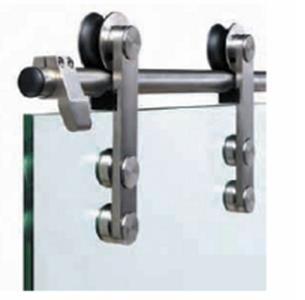 System for sliding door of glass