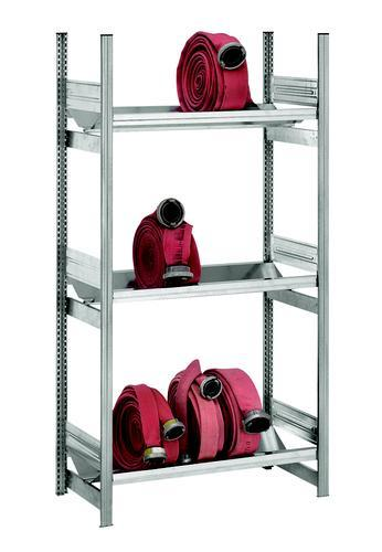 Fire hose shelf