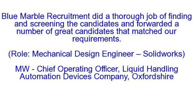 MW - Chief Operating Officer, Liquid Handling Automation [Devices Company, Oxon
