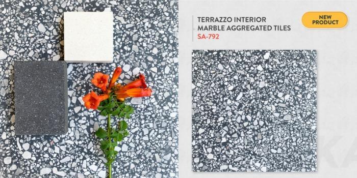 INTERIOR MARBLE AGGREGATED TERRAZZO TILES - SA-792