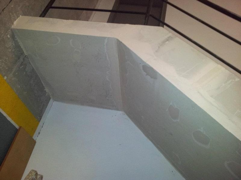 Placas de fibrosilicato en escalera Ignifugaciones Lotor Barcelona