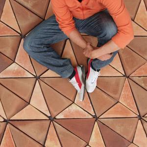 Terracotta floor tiles Cometa