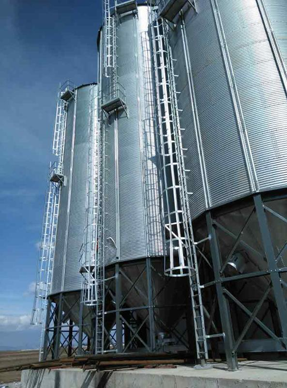Main product range includes steel silos, elevator systems, handling systems, grain pre-cleaning systems, drying systems, temperature monitoring systems, level controls, humidity control  systems , ven
