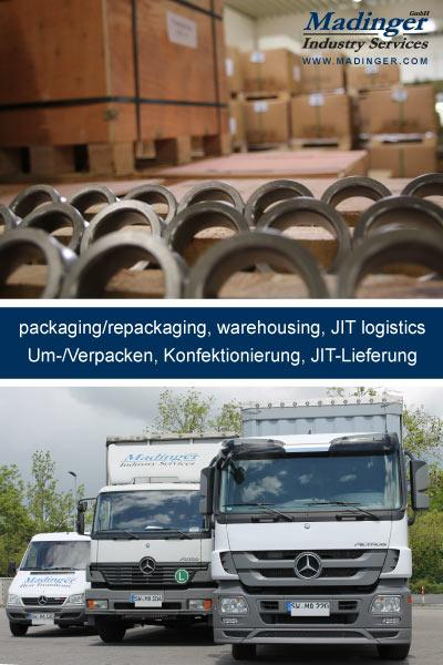 packaging/repackaging, warehousing, JIT logistics, Um- und Verpacken, Konfektionierung, JIT-Lieferung