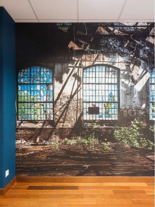 Revêtement mural acoustique avec impression numérique