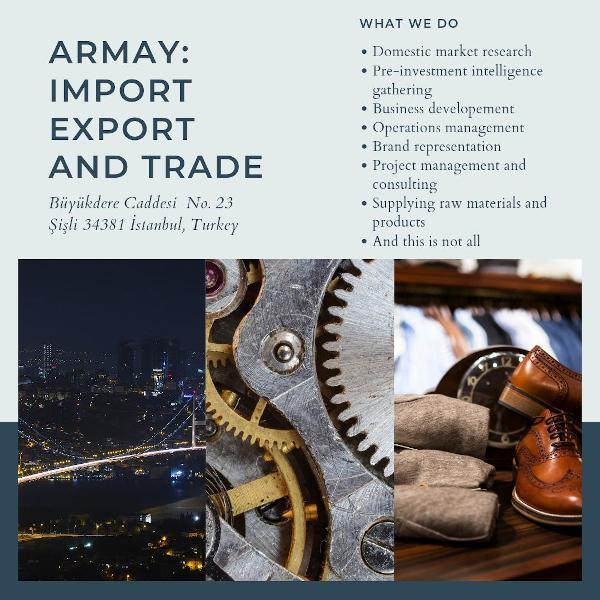 Armay Import Export and Trade Company in Istanbul, Turkey