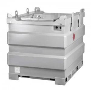 Station de stockage et distribution gazole double paroi acier spéciale chantier, volume 1000 L. Homologuée ADR.