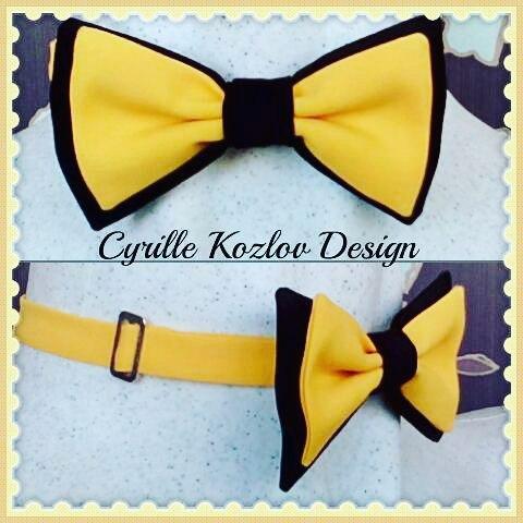 Yellow-black bowtie