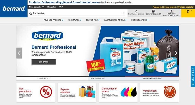 Bernard France SAS. Produits d'entretien, d'hygiène et fourniture de bureau destinés aux professionnels. Vente en ligne et par catalogue.