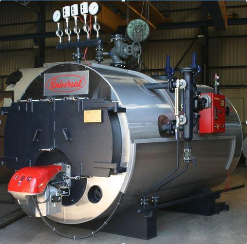 High pressure, 3pass, fire-smoke tube scotch type steam boiler
