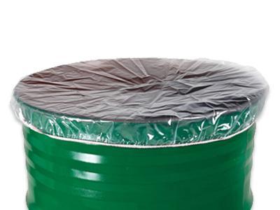 Heldere ldpe drum cover met elastik. De cover beschermd de inhoud van drum of emmer tegen stof, vocht en vuil.