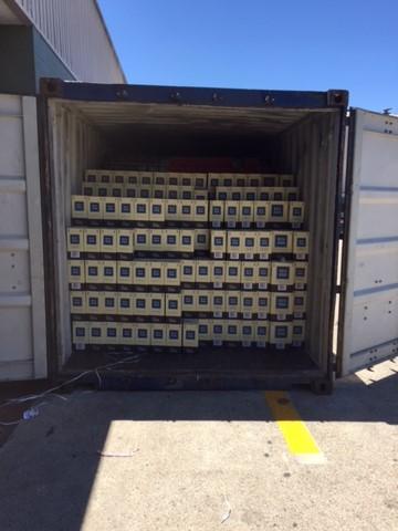Australian Wine loaded for Export