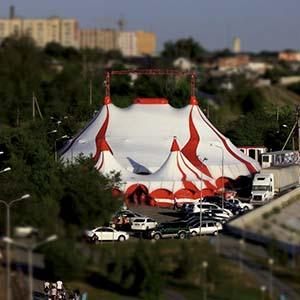 Circus tent in 2015, 30 meters, 900 seats
