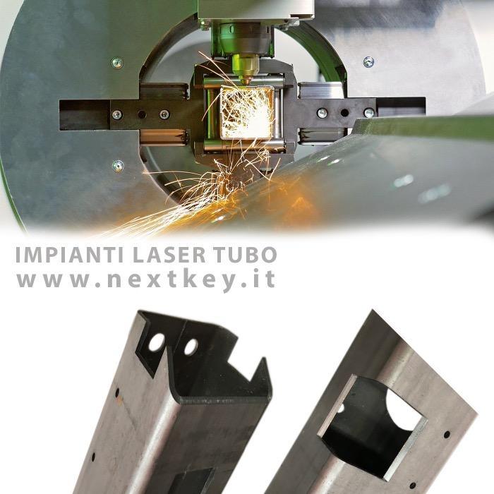 taglio laser tubolari in acciaio