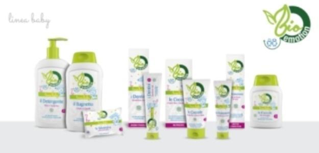 Gamma completa di prodotti per l'igiene e la cura del neonato e del bambino